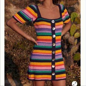 Anthropologie Farm Rio Renata Crochet Mini Dress